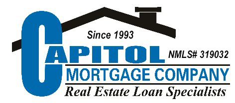 capitol mortgage company logo with numbers - mortgage loan originator