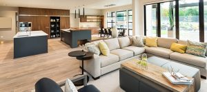 Beautiful living room interior in new luxury home - Private Money Loans