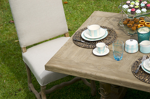 table setting on grass - rustic but elegant - FHA Loans