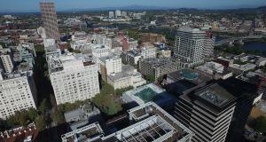 Downtown Portland Aerial - Jumbo Loans