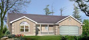 brick tan home white trim - Reverse Mortgage